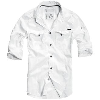 košile pánská BRANDIT - Men Shirt Slim Weiss, BRANDIT