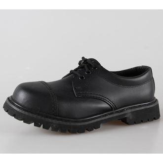 boty kožené 3dírkové BRANDIT - Phantom Black, BRANDIT