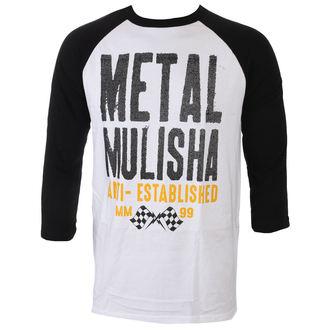 tričko pánské s 3/4 rukávem METAL MULISHA - FIRST RAGLAN - WHT_FA7519001.01