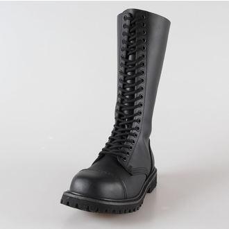 boty kožené 20dírkové BRANDIT - Phantom Black, BRANDIT