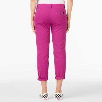 kalhoty dámské VANS - G Pleated Chino - Boysenberry, VANS