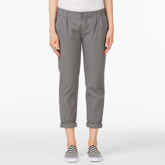 kalhoty dámské VANS - G Pleated Chino - Graphite, VANS