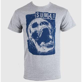 tričko pánské SUM 41 - Skull Sports - Grey - LIVE NATION, LIVE NATION, Sum 41