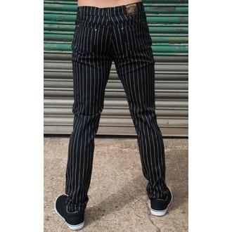kalhoty pánské 3RDAND56th - Pinstripe - Blk/Wht - JM1151