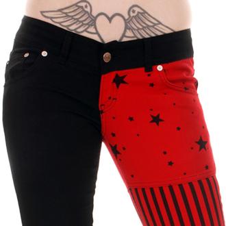 kalhoty dámské 3RDAND56th - Split/L Skinny - Blk/Red