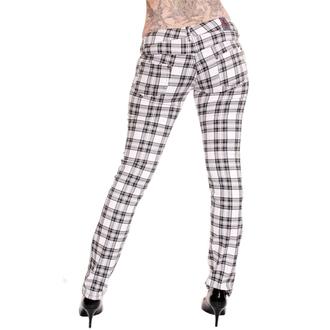 kalhoty dámské 3RDAND56th - Check Skinny - Wht, 3RDAND56th