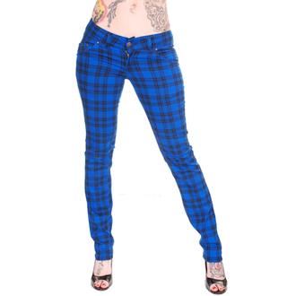 kalhoty dámské 3RDAND56th - Check Skinny - Royal - JM883