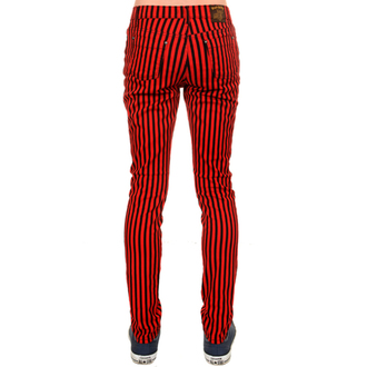 kalhoty (unisex) 3RDAND56th - Striped Skinny Jeans - Blk/Red, 3RDAND56th