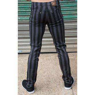 kalhoty (unisex) 3RDAND56th - Stripe Skinny - Blk/Grey - JM1105
