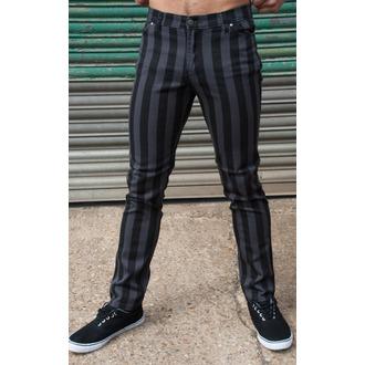 kalhoty (unisex) 3RDAND56th - Stripe Skinny - Blk/Grey