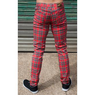 kalhoty (unisex) 3RDAND56th - Tartan Skinny Jeans - Ud Tartan