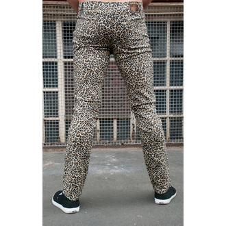 kalhoty pánské 3RDAND56th - Leopard Skinny Jeans - Natural Leo - JM1150
