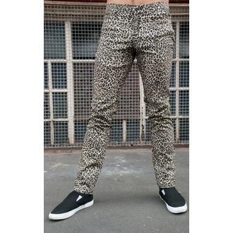 kalhoty pánské 3RDAND56th - Leopard Skinny Jeans - Natural Leo, 3RDAND56th