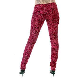 kalhoty dámské 3RDAND56th - Print Skinnies - Pink - JM409