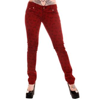 kalhoty dámské 3RDAND56th - Swallow Skinny Jeans - Wine, 3RDAND56th