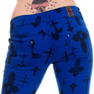 kalhoty dámské 3RDAND56th - Cross Skinny Jeans - Royal