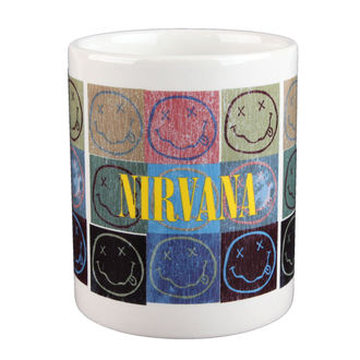hrnek Nirvana - Distressed Smiley Blocks - ROCK OFF, ROCK OFF, Nirvana