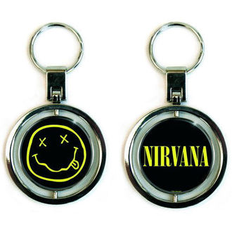 klíčenka (přívěšek) Nirvana - Smiley Spinner - ROCK OFF