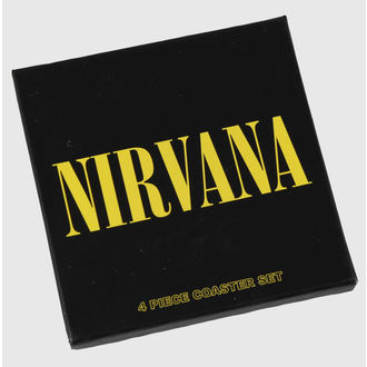 pivní tácky Nirvana -  coaster set - ROCK OFF, ROCK OFF, Nirvana