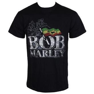 tričko pánské Bob Marley - Distressed Logo - Black - BRAVADO EU, BRAVADO EU, Bob Marley
