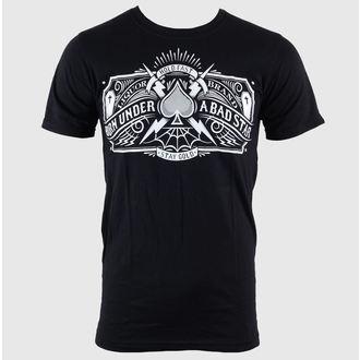 tričko pánské LIQUOR BRAND - Bad Star - Logo - Black - 194