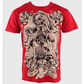 tričko pánské LIQUOR BRAND - Dead Guadelupe - Red, LIQUOR BRAND