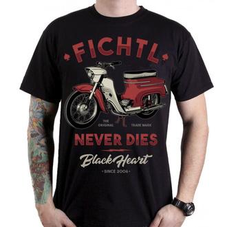 tričko pánské BLACK HEART - FICHTL - 001-0019-BLK