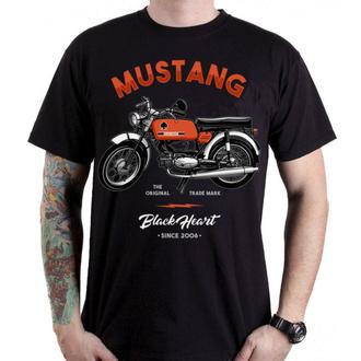 tričko pánské BLACK HEART - MUSTANG - 001-0021-BLK
