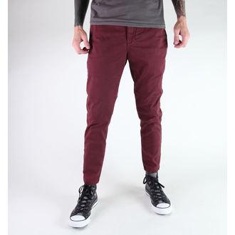 kalhoty pánské GLOBE - Goodstock Drop Crotch Chino - Oxblood