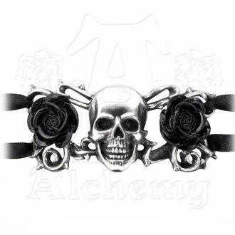 náramek ALCHEMY GOTHIC - Skull & Briar Rose, ALCHEMY GOTHIC