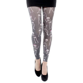 legíny (punčocháče) PAMELA MANN - Love Bones Footles Tights - Multi - PM036