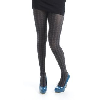punčocháče PAMELA MANN - Opaque Dogtooth Tights - Grey