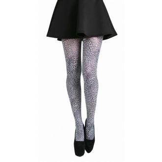 punčocháče PAMELA MANN - Petite Leopard Tights - Black/White - 049