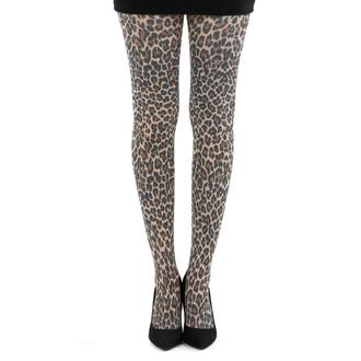 punčocháče PAMELA MANN - Small Leopard Tights - Natural - PM057