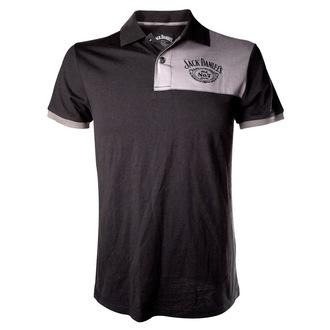 tričko pánské (polo) Jack Daniels - Patch With Logo - Grey, JACK DANIELS