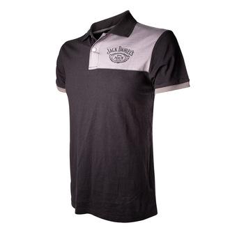 tričko pánské (polo) Jack Daniels - Patch With Logo - Grey
