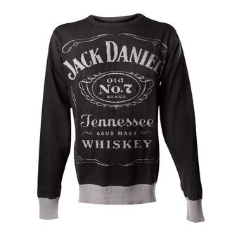 svetr pánský Jack Daniels - Knitted Sweater - Black, JACK DANIELS