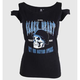 tričko dámské (overkill top) BLACK HEART - Vintage skull, BLACK HEART