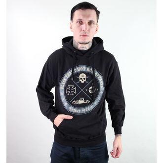 mikina pánská s kapucí BLACK HEART - Circle Skull - Black