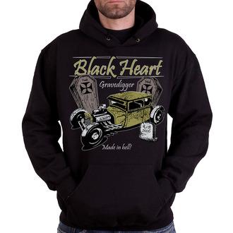 mikina pánská s kapucí BLACK HEART - Gravedigger, BLACK HEART