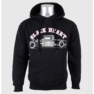 mikina pánská s kapucí BLACK HEART - Pick Up - Black