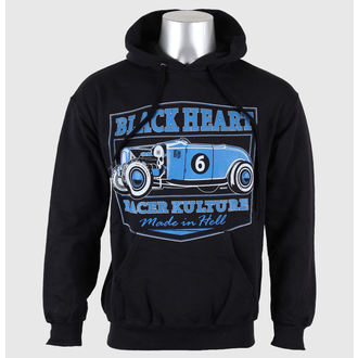 mikina pánská s kapucí BLACK HEART - Roadster - Black