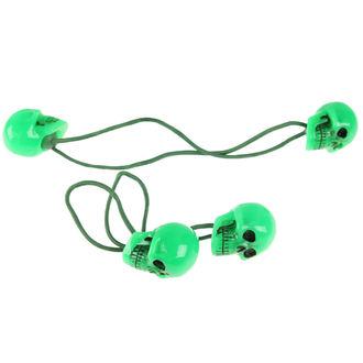 gumička do vlasů KREEPSVILLE SIX SIX SIX - Skull - Green, KREEPSVILLE SIX SIX SIX