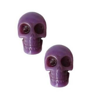náušnice KREEPSVILLE SIX SIX SIX - Skull - Purple, KREEPSVILLE SIX SIX SIX