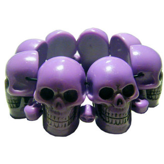 náramek KREEPSVILLE SIX SIX SIX - Skull - Purple, KREEPSVILLE SIX SIX SIX