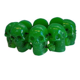 náramek KREEPSVILLE SIX SIX SIX - Skull - Green, KREEPSVILLE SIX SIX SIX