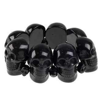 náramek KREEPSVILLE SIX SIX SIX - Skull - Black - BRASB