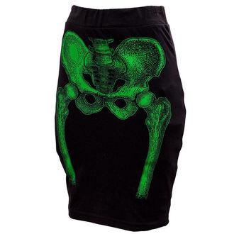 sukně dámská KREEPSVILLE SIX SIX SIX - Skeleton Pencil - Green, KREEPSVILLE SIX SIX SIX