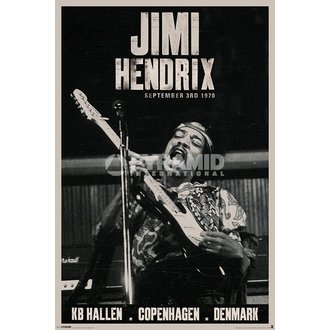 plakát Jimi Hendrix - Copenhagen - PYRAMID POSTERS, PYRAMID POSTERS, Jimi Hendrix