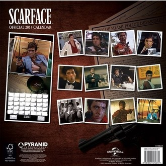 kalendář na rok 2014 Scarface - PYRAMID POSTERS, PYRAMID POSTERS, Scarface